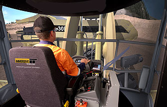 Simulator for Komatsu Wheel Loader WA1200-3