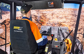 Simulator for P&H (Letourneau) L-2350 Generation 2 Wheel Loader