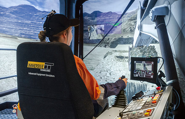 Simulator for Liebherr R9200 Excavator