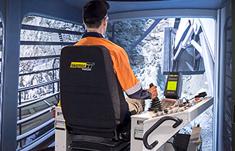 Simulator for Liebherr Excavator R9400