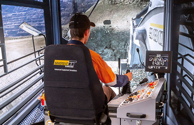 Simulator for Liebherr R9800 Excavator