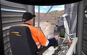 Simulator for Liebherr Excavator R996, R9250