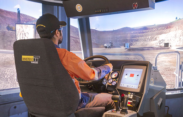 Simulator for Liebherr Haul Truck T282C, T284