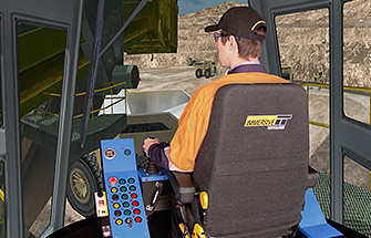 Simulator for P&H Rope Shovel 2800XPA, 4100XPB, 4100BOSS