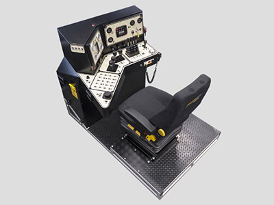 Training Simulator Module for Cat MD6290 Blasthole Drill (Overhead view)