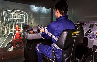 Simulator for Simulator for Sandvik DD311 Jumbo Drill
