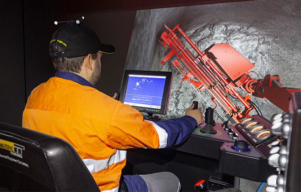 Simulator for Sandvik DS411-C Bolter