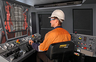 Simulator for Simulator for Sandvik DD320, DD420 Jumbo Drill