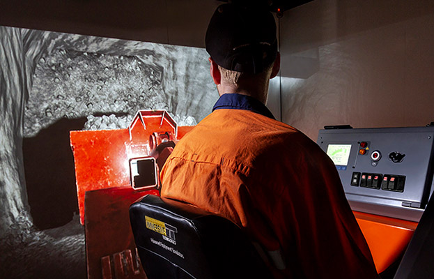 Simulator for Sandvik LH307 Underground Loader