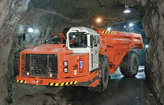 Simulator for Sandvik Underground Truck TH540,TH550