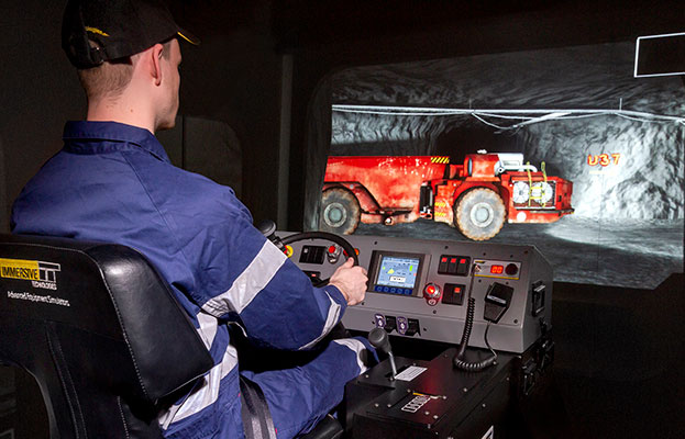 Simulator for Sandvik TH545i Underground Truck