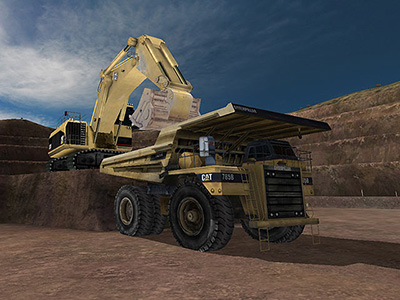 Cat 785B Loading Training