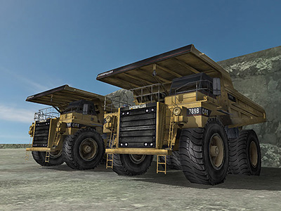 Cat 789B in Simulation
