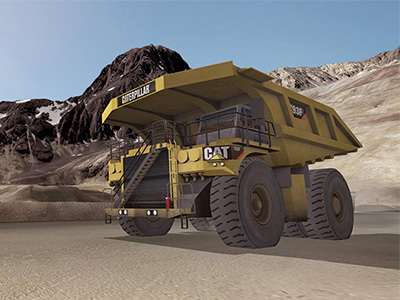 Cat 793F, 797F Haul Truck on Custom Mine Site