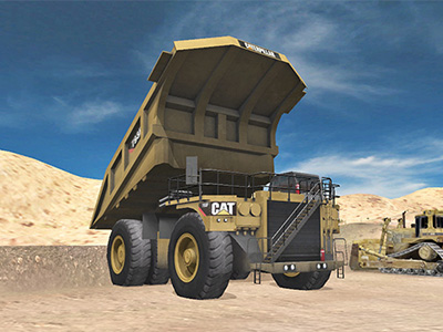 Cat 793F, 797F Haul Truck Dumping Training