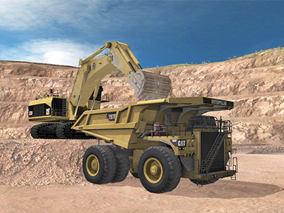 Cat 793F, 797F Haul Truck Loading Training