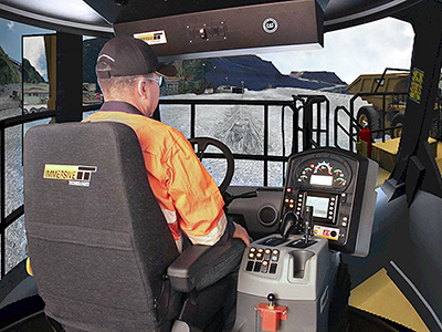 Training Simulator Module for Cat 795F-AC Haul Trucks on PRO3
