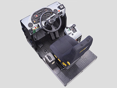 Terex TR100 Haul Truck Training Simulator Module (Overhead view)