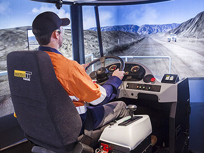 Terex TR100 Haul Truck Training Simulator Module on PRO3