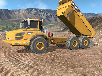 Volvo A40F Dumping Training