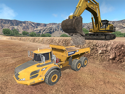 Volvo A40F Loading Training