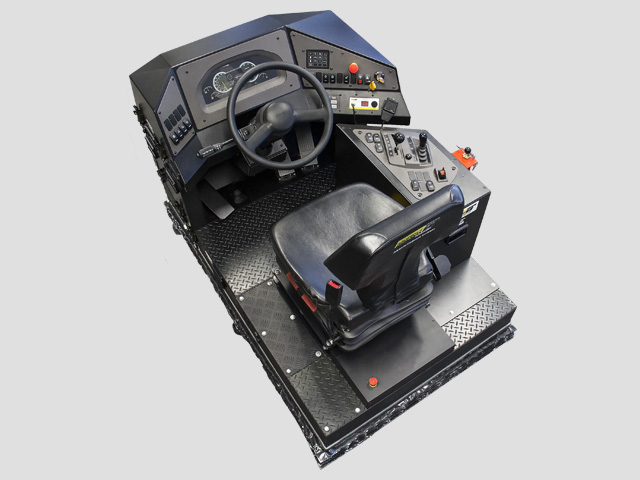 Training Simulator Module for Volvo A40F Articulated Dump Truck (Overhead view)