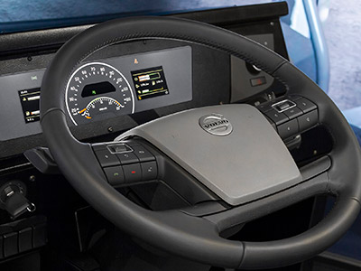 Complete OEM Steering Wheel assembly and simulated dashboard gauges