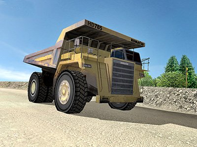 Komatsu HD785-5 Driving Training (shown on Custom Mine Site)