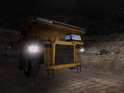 Cat 777E Haul Truck - Adverse Weather Training