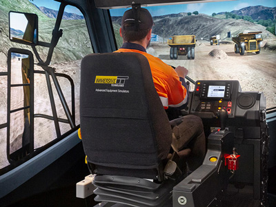 Training Simulator Module for Cat 777E Haul Trucks