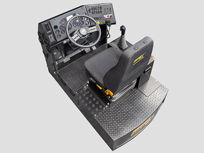 Mack Granite Vocational Light Vehicle Training Simulator Module (Overhead view)