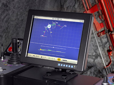 Sandvik DS411-C - Bolting Instrument Touchscreen for realistic control system interaction