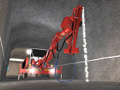 Sandvik DS411-C Bolter Drilling Training