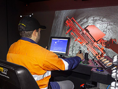 Sandvik DS411-C Bolter Training Simulator Module