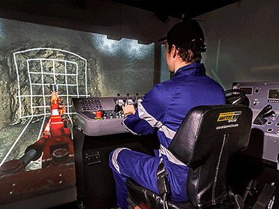 Sandvik DD311 Jumbo Drill Training Simulator Module on IM360