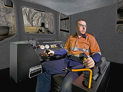 Training Simulator Module for Cat R1700G, R2900G Underground Loaders on IM360