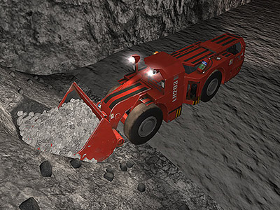 Sandvik LH203 Digging Training