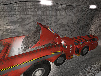 Sandvik LH203 Tail Loading Training