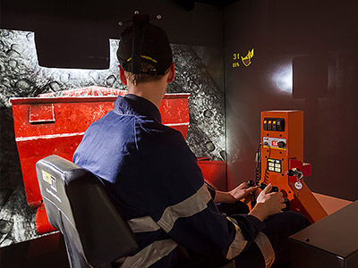 Sandvik LH203 Underground Loader Training Simulator Module on IM360