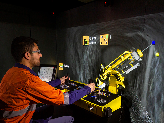 Epiroc ME7 C Longhole Production Drill Rig Training Simulator Module