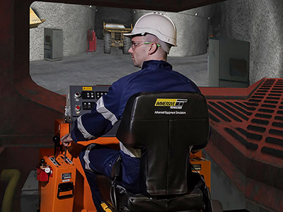 Sandvik TH315 Underground Truck simulator module on IM360