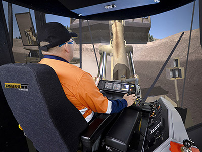 Training Simulator Module for Cat 992G Wheel Loaders on PRO3