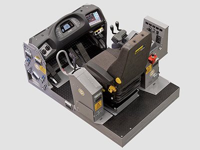 Komatsu WA1200-3 Wheel Loader Training Simulator Module (Overhead view)