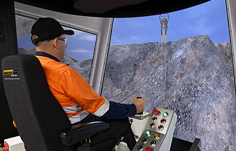 Simulator for Dragline