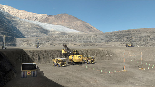 Simulated standard operational procedures. Chilean copper mine.