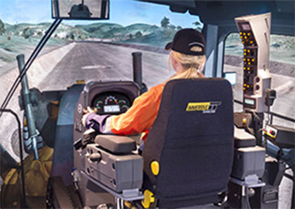 Wide range of equipment simulated via modular Conversion Kits (Grader pictured)